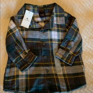 NWT Baby Gap Plaid Flannel Button Up